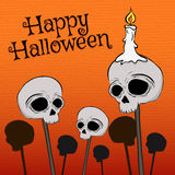 Halloween Skull illustration Royalty Free Stock Image