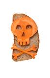 Halloween skull made of carrot Stock Image