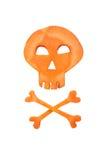 Halloween skull made of carrot Stock Photo