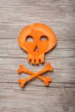 Halloween skull made of carrot Royalty Free Stock Photos