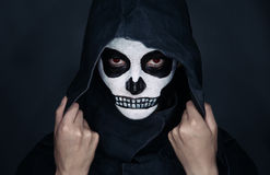 Halloween skull makeup Stock Photo
