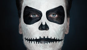 Halloween skull man Royalty Free Stock Image