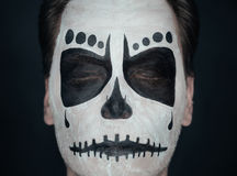 Halloween skull man Stock Photography