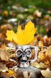 Halloween skull mug Stock Photos