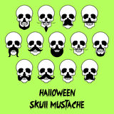 13 Halloween skull mustache Stock Photography