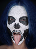 Halloween skull woman royalty free stock images