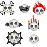 Halloween skulls Royalty Free Stock Images