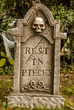 Halloween Skulls and Decorations royalty free stock photos