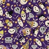 Halloween skulls pattern 01 Stock Images