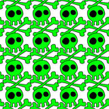 Halloween skulls seamless background Royalty Free Stock Photography