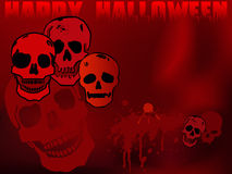 Halloween skulls wallpaper. Illustration of halloween skulls group and blood shapes Stock Images