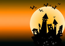 Halloween slott Royaltyfri Foto