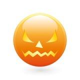 Halloween smile icon stock image