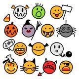 Halloween smileys royalty free stock image