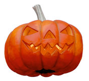 Halloween - Smiling Pumpkin. A big smiling halloween pumpkin isloated on white Stock Photography
