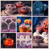 Halloween-snoepjescollage stock foto