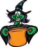 halloween som behandlar trickhäxan Royaltyfri Foto