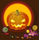 halloween som pumpking Fotografering för Bildbyråer