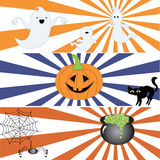Halloween. Some deco banners for Halloween Stock Photography