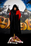 Halloween sorcerer graffiti Stock Image