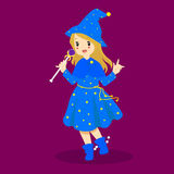 Halloween Sorceress Costume Vector Royalty Free Stock Photo