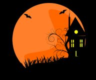 halloween spökade Arkivbilder