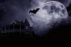 halloween spökade herrgården Royaltyfri Bild
