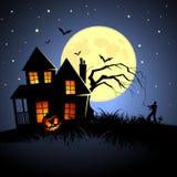 halloween spökade huset Fotografering för Bildbyråer