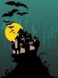 halloween spöklik tree Royaltyfri Bild