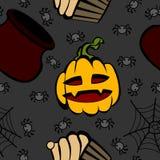 Halloween-Spaß und gespenstisches Muster Stockbild