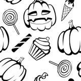Halloween-Spaß und gespenstisches Muster Stockfoto