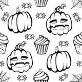 Halloween-Spaß und gespenstisches Muster Lizenzfreie Stockfotos