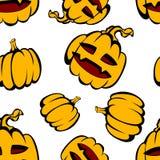 Halloween-Spaß und gespenstisches Muster Stockbilder