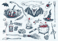 Halloween-Spaß kritzelt #1 Lizenzfreies Stockbild