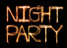 Halloween. Sparkler firework light alphabet Stock Image