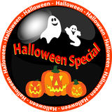 Halloween special button 1 Stock Images