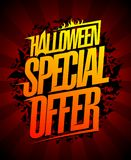 Halloween special offer design. Halloween special offer, holiday clearance sale banner concept Stock Photos