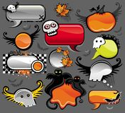 Halloween speech bubbles Stock Photography