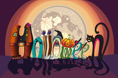Halloween spellbound letters Royalty Free Stock Photography
