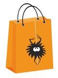 Halloween spider bag Stock Photo