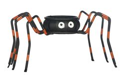 Halloween spider candy dish Royalty Free Stock Photography