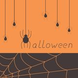 Halloween spider card Royalty Free Stock Photography