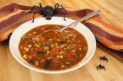 Halloween Spider with Chili Stock Photo