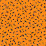 Halloween Spider Seamless Pattern Orange Stock Photography