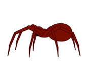 Halloween Spider Vector. Creepy Horrible Halloween Spider Vector Illustration Royalty Free Stock Photos