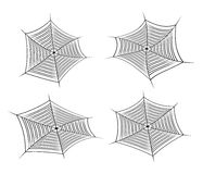 Halloween spider web, cobweb symbol, icon set. vector illustration  on white background. Stock Photography