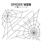 Halloween Spider Web Vector. Black Spider Web Isolated On White. For Halloween Design. Halloween Spider Web Vector. Black Spider Web Isolated On White Royalty Free Stock Photography