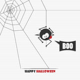 Halloween spider and web Stock Photography