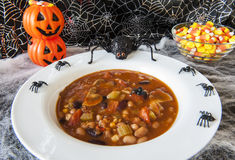 Halloween Spiders Enjoying Chili Royalty Free Stock Images