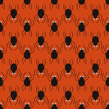 Halloween spiders pattern. Cute seamless background. Stock Image